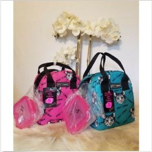 Betsey Johnson Kitty Lunch Tote & Food Container